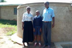 The Water Project: St. Antony Shijiko Primary School -  Field Officer Joan Were Churchill Imbenzi And Phillip Sunguti