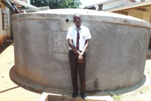 The Water Project: Mwitoti Secondary School -  Kennedy Munyani A Student At The Water Tank