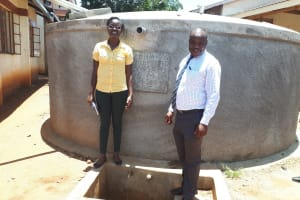 The Water Project: Mwitoti Secondary School -  Our Field Officer With The Principal Of Mwitoti School