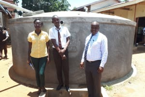 The Water Project: Mwitoti Secondary School -  The Principal Mr Chrispinus Owino And The Student Kennedy Munyani