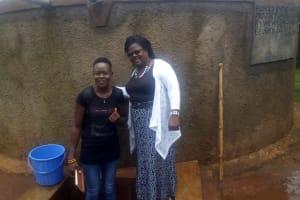 The Water Project: Ebubayi Secondary School -  Field Officer Lillian Achieng And Headteacher Veronica Onacha