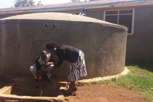 The Water Project: Mumias Central Primary School -  Francis Owamu And Field Officer Karen Maruti