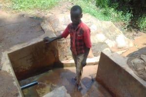 The Water Project: Lugango Community, Lugango Spring -  Derick Maraha
