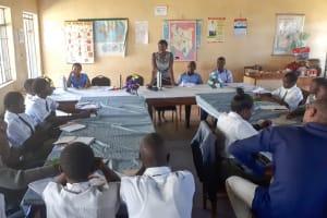 The Water Project: Precious School Kapsambo Secondary -  Training