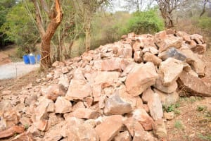 The Water Project: Syatu Community A -  Stones For Building
