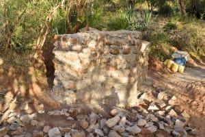 The Water Project: Ikuusya Community A -  Well Progress