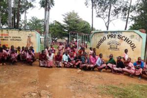 The Water Project: Irobo Primary School -  Students In Front Of School