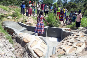 The Water Project: Luyeshe Community, Matolo Spring -  Spring Management Training