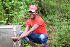 The Water Project: Masola Community A -  Flowing Water