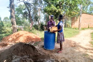 The Water Project: Sabane Primary School -  Water To Mix Cement