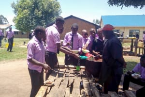 The Water Project: Namanja Secondary School -  Students Getting Lunch