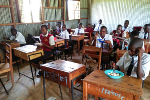 The Water Project: Imanga Secondary School -  Eating Lunch