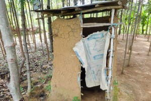 The Water Project: Emulakha Community, Nalianya Spring -  Sample Latrine