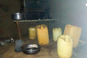 The Water Project: Sichinji Community, Makhatse Spring -  Water Storage Containers In Kitchen
