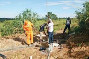 The Water Project: Nyakarongo Center Community -  Pump Installation
