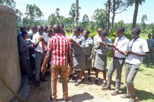 The Water Project: St. John Cheptech Secondary School -  Training On Tank Care