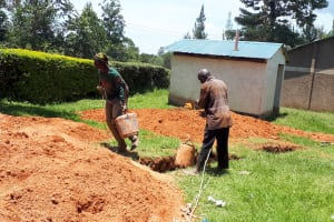 The Water Project: Precious School Kapsambo Secondary -  Sinking Pit For Latrines