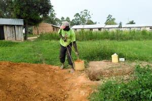 The Water Project: Sabane Primary School -  Sinking A Latrine Pit