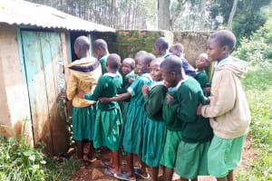 The Water Project: Bojonge Primary School -  Line For Latrine