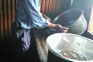 The Water Project: Imanga Secondary School -  Talking To The School Cook