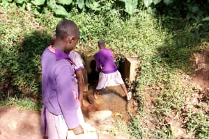 The Water Project: Magaka Primary School -  Fetching Water