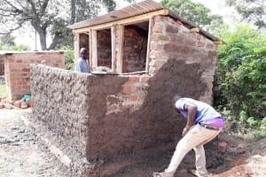 The Water Project: Kapsotik Primary School -  Latrine Construction