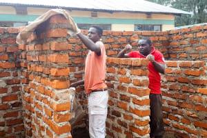 The Water Project: Precious School Kapsambo Secondary -  Latrine Construction