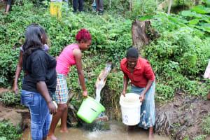 The Water Project: Bukhakunga Community, Khayati Spring -  Visiting Khayati Spring