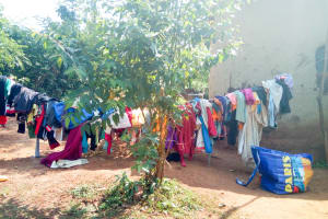 The Water Project: Sichinji Community, Makhatse Spring -  Clothes Drying