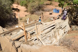 The Water Project: Karuli Community D -  Sand Dam Construction