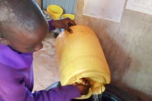 The Water Project: Magaka Primary School -  Storing Water From The Spring