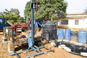 The Water Project: Tulun Community, Hope Assembly of God School and Church -  Drilling