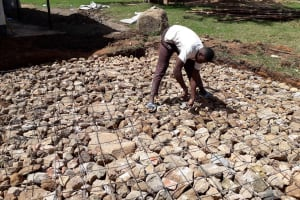 The Water Project: Kapsotik Primary School -  Tank Construction