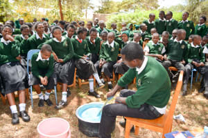 The Water Project: Ngaa Secondary School -  Soap Training