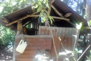 The Water Project: Mwichina Community, Matanyi Spring -  Sample Latrine