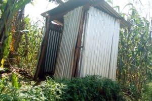 The Water Project: Sichinji Community, Makhatse Spring -  Latrine Sample