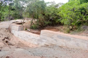 The Water Project: Syatu Community -  Finished Sand Dam