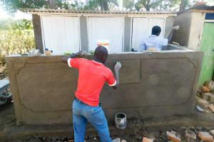 The Water Project: Mukunyuku RC Primary School -  Latrine Construction