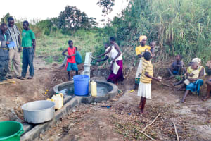The Water Project: Nyakarongo Center Community -  Flowing Water