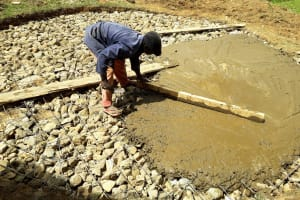 The Water Project: Kapsotik Primary School -  Foundation Construction