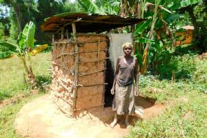 The Water Project: Ngeny Barak Community, Ngeny Barak Spring -  Sinica Shatsala At Her Latrine