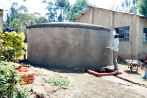 The Water Project: St. John Cheptech Secondary School -  Tank Construction