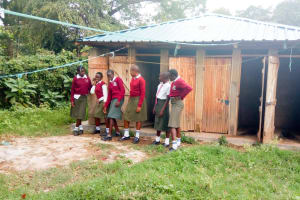 The Water Project: Kaimosi Demonstration Secondary School -  Girl Latrines