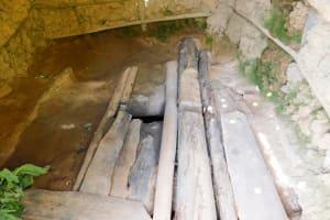 The Water Project: Ngeny Barak Community, Ngeny Barak Spring -  Dangerous Latrine Floor