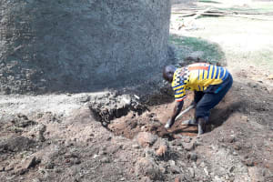 The Water Project: Kapsotik Primary School -  Digging The Catchment Area