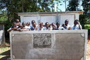 The Water Project: St. John Cheptech Secondary School -  Finished Latrines