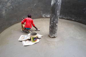 The Water Project: Precious School Kapsambo Secondary -  Tank Construction