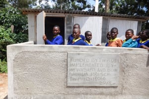 The Water Project: Shihalia Primary School -  Finished Latrines