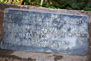 The Water Project: Syatu Community -  Sand Dam Plaque