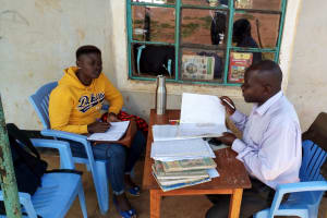 The Water Project: Magaka Primary School -  Jemmimah Talking To The Deputy Headteacher